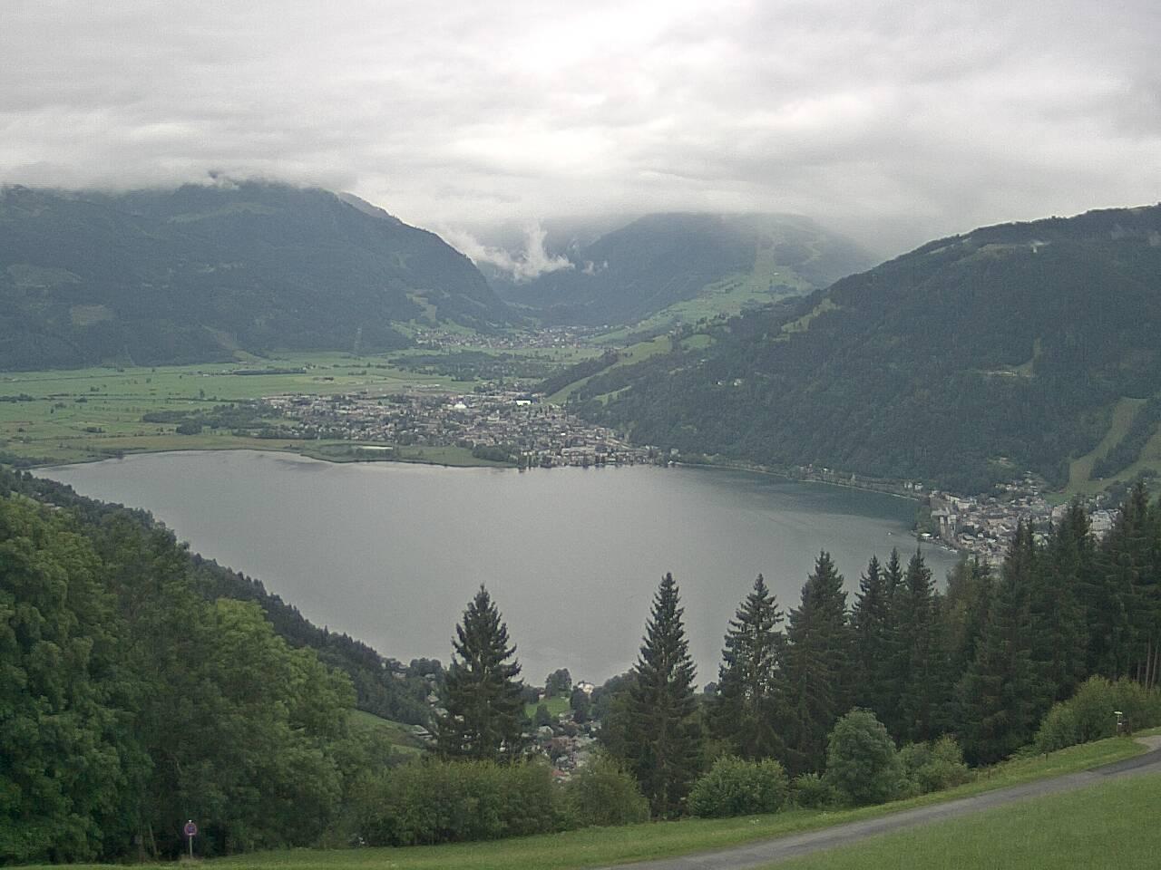 webcam : Blick auf Zell am See mit Zeller See